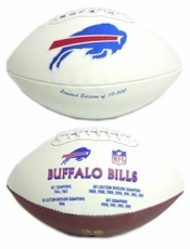 Buffalo Bills Embroidered Autograph Signature Series Football