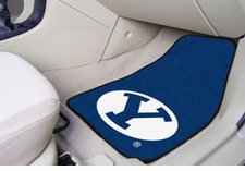 BYU Cougars 2-Piece Carpeted Car Mats Front Set