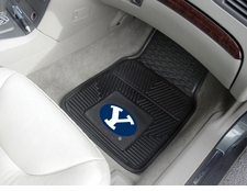 BYU Cougars 2-Piece Heavy Duty Vinyl Car Mat Set