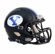 BYU Cougars Black Riddell Speed Mini Helmet