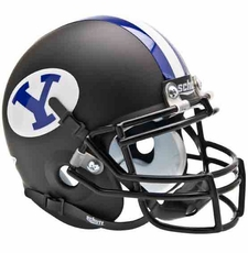 BYU Cougars Black Schutt Authentic Mini Helmet