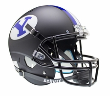 BYU Cougars Black Schutt XP Full Size Replica Helmet