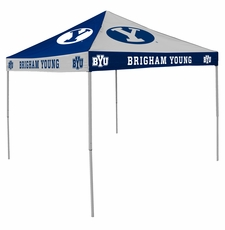 BYU Cougars Blue / White Checkerboard Logo Canopy Tailgate Tent