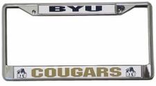BYU Cougars Chrome License Plate Frame