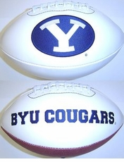 BYU Cougars Fotoball Signature Embroidered Full Size Football