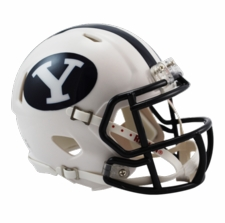 BYU Cougars White Riddell Speed Mini Helmet