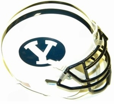 BYU Cougars White Schutt XP Authentic Mini Helmet