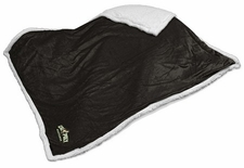 Cal Poly Mustangs Black Sherpa Throw