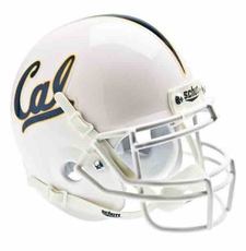 California Golden Bears White Schutt Authentic Mini Helmet
