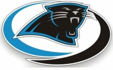 Carolina Panthers 12 x 12 Die-Cut Window Film Decal