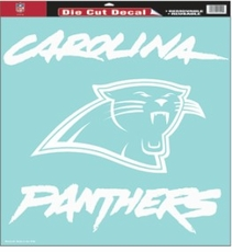 Carolina Panthers 18 x 18 Die-Cut Decal