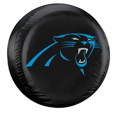 Carolina Panthers Black Standard Spare Tire Cover