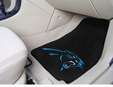 Carolina Panthers Car Mats 2 Piece Front Set