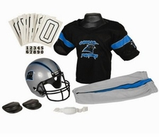 Carolina Panthers Deluxe Youth / Kids Football Uniform Set