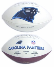 Carolina Panthers Embroidered Autograph Signature Series Football