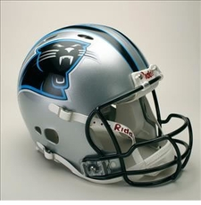Carolina Panthers Full Size Riddell Revolution NFL Helmet