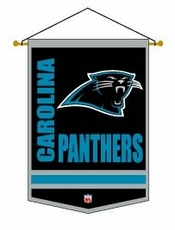 Carolina Panthers Wool 12 x 18 Mini Banner