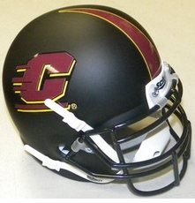 Central Michigan Chippewas Black Schutt Authentic Mini Helmet