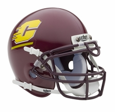 Central Michigan Chippewas Schutt Authentic Mini Helmet