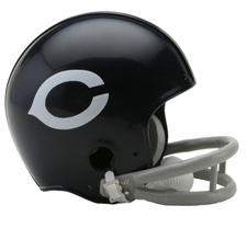 Chicago Bears 1957-72 2-Bar Throwback Replica Mini Helmet