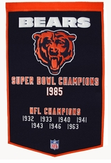 Chicago Bears 24 x 36 Wool Dynasty Banner