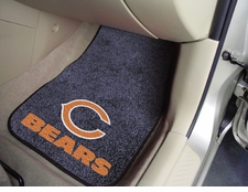 Chicago Bears Car Mats 2 Piece Front Set