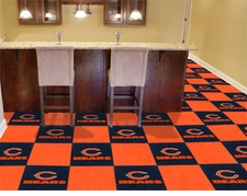 "Chicago Bears Carpet Tiles - 20 18"" x 18"" Tiles"