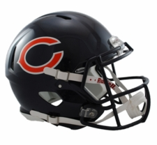 Chicago Bears Revolution Speed Riddell Authentic Helmet