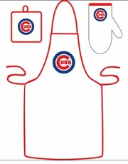 Chicago Cubs Cooking / Grilling Apron Set