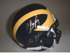 Chris Perry Autographed Michigan Wolverines Mini Helmet