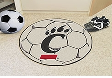 "Cincinnati Bearcats 27"" Soccer Ball Floor Mat"