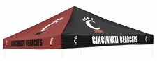 Cincinnati Bearcats Red / Black Logo Tent Replacement Canopy