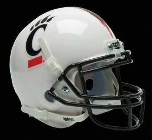 Cincinnati Bearcats White Schutt Authentic Mini Helmet