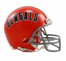 Cincinnati Bengals 1968-79 Throwback Replica Mini Helmet