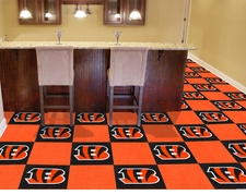 "Cincinnati Bengals Carpet Tiles - 20 18"" x 18"" Tiles"