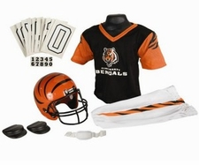 Cincinnati Bengals Deluxe Youth / Kids Football Uniform Set