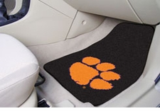 Clemson Tigers 2-Piece Carpeted Car Mats Front Set