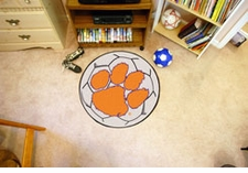 "Clemson Tigers 27"" Soccer Ball Floor Mat"