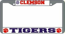 Clemson Tigers Chrome License Plate Frame