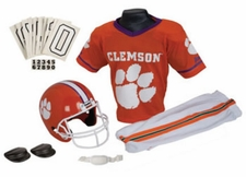 Clemson Tigers Deluxe Youth / Kids Football Helmet Uniform Set