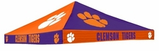 Clemson Tigers Orange / Purple Checkerboard Logo Tent Replacement Canopy