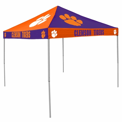 Clemson Tigers Purple / Orange Checkerboard Logo Canopy Tailgate Tent