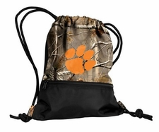 Clemson Tigers Realtree Camo String Pack / Backpack