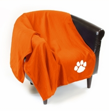 Clemson Tigers Sweatshirt Throw Blanket