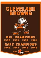 Cleveland Browns 24 x 36 Wool Dynasty Banner