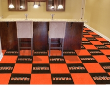 "Cleveland Browns Carpet Tiles - 20 18"" x 18"" Tiles"