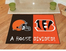Cleveland Browns - Cincinnati Bengals House Divided Floor Mat