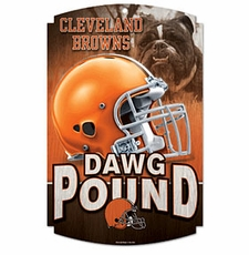 Cleveland Browns Wood Sign
