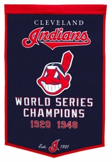 Cleveland Indians 24x36 Wool Dynasty Banner