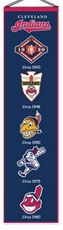 Cleveland Indians Wool 8x32 Heritage Banner
